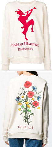 Sweatshirt with Chateau Marmont Print