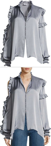 'Lecce' Cold-Shoulder Blouse *Limited Stock* - DESIGNER INSPIRED FASHIONS