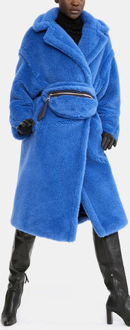 Teddy Icon Coat, Blue | DESIGNER INSPIRED FASHIONS