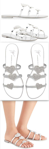 'Anya love' Sandals, Silver