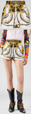 'Barocco' Rodeo Print Shorts