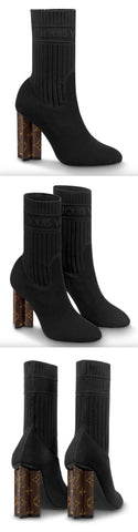 Silhouette Sock Ankle Boots, Black