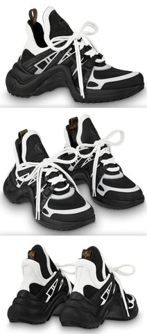 'Archlight' Sneakers - Black & White