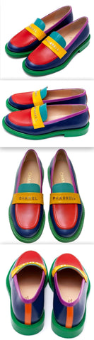 Pharrell Logo Multi Colored Loafers | DESIGNER INSPIRED FASHIONS