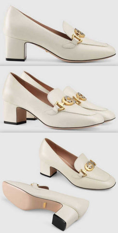 Zumi Leather Mid-Heel Loafers | DESIGNER INSPIRED FASHIONS