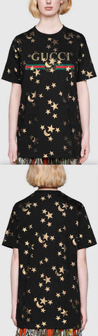 T-shirt with Stars and Moon Print | DESIGNER INSPIRED FASHIONS