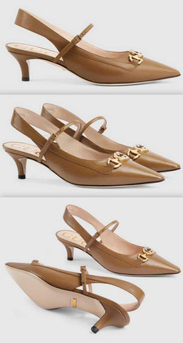 Zumi Leather Pumps, Taupe