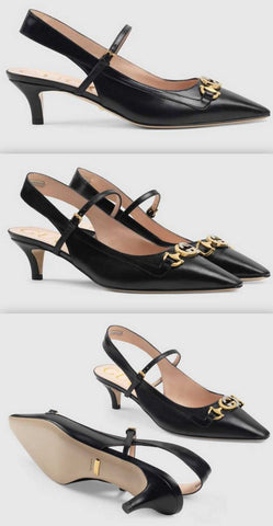 Zumi Leather Pumps, Black | DESIGNER INSPIRED FASHIONS