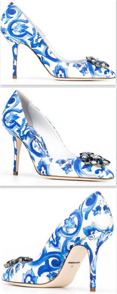'Bellucci Majolica' Embellished Pumps - DESIGNER INSPIRED FASHIONS