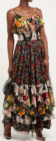Floral Ruffled Dress | DESIGNER INSPIRED FASHIONS