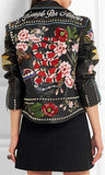 Embellished Genuine Leather Biker Jacket | DESIGNER INSPIRED FASHIONS