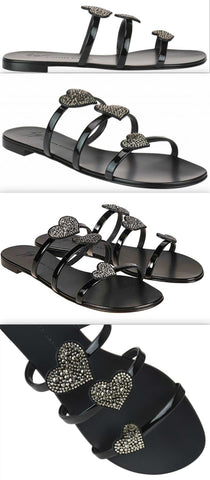 'Anya love' Sandals, Black