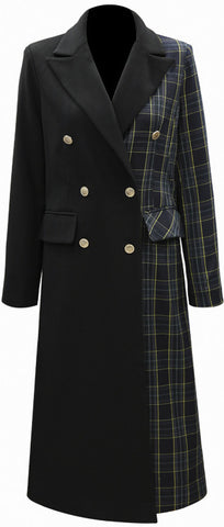 Check-Panel Trench Coat | DESIGNER INSPIRED FASHIONS