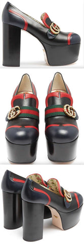 'Brenda' Leather Platform Loafers