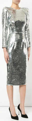 Sequined Midi Dress | DESIGNER INSPIRED FASHIONS