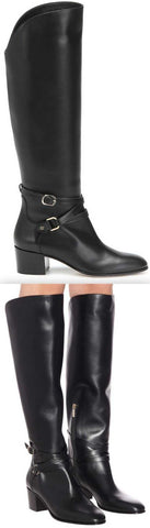 'Huxlie 45' Leather Knee-High Boots