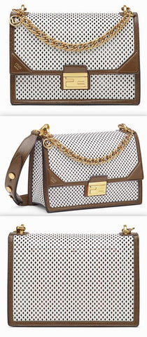 'Kan U' White Leather Bag | DESIGNER INSPIRED FASHIONS