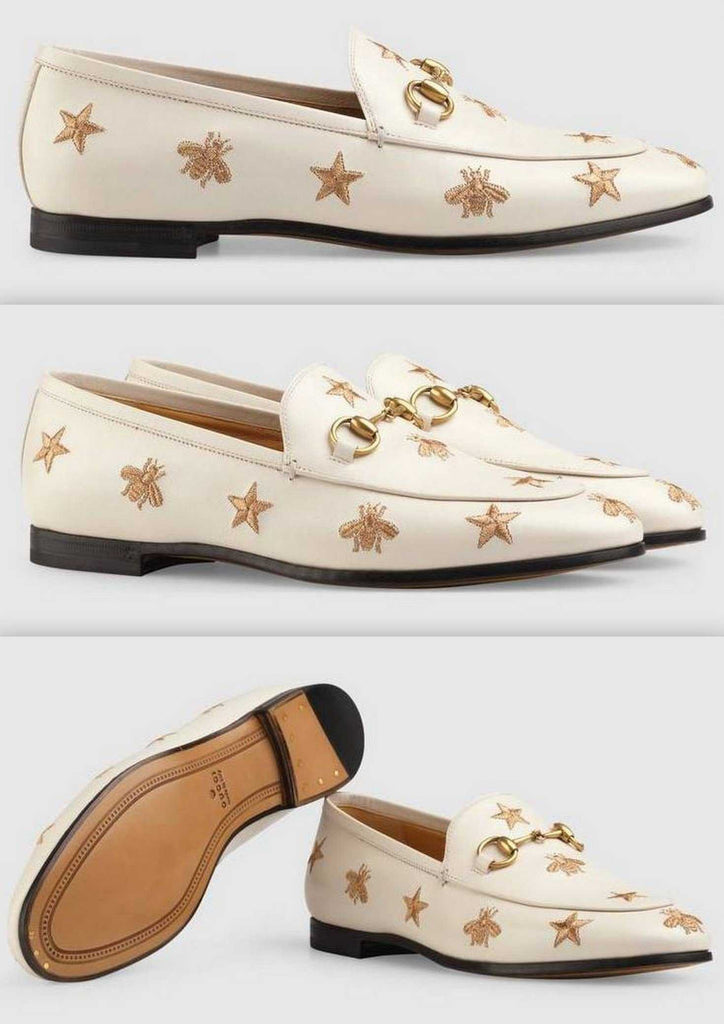 Jordaan Embroidered Leather Loafer