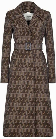 FF Logo Trench Coat | DESIGNER INSPIRED FASHIONS