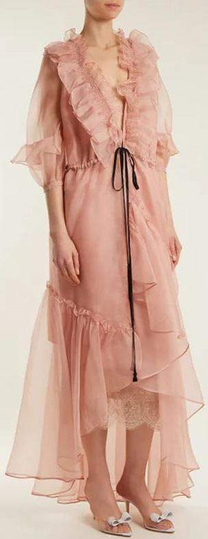 Ruffle-Trimmed Organza Dress