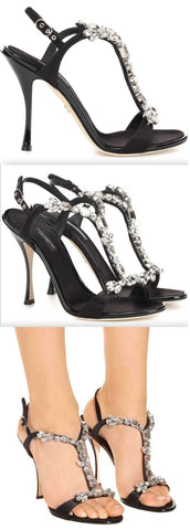 Crystal-Embellished Sandals | DESIGNER INSPIRED FASHIONS