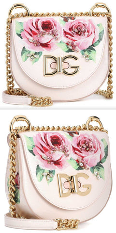 Wifi Leather Floral Shoulder Bag
