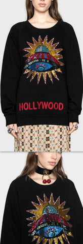 UFO Sequin Embroidered Sweatshirt