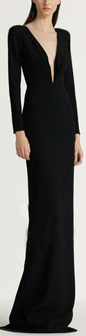 'Alex' Long-Sleeve Column Gown