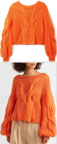 Oversized Cable and Open-Knit Mohair-Blend Sweater | DESIGNER INSPIRED FASHIONS