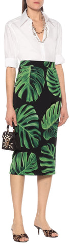 Banana Leaf Pencil Skirt