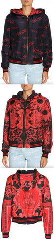 Baroque and Logo Reversible Bomber Jacket | DESIGNER INSPIRED FASHIONS