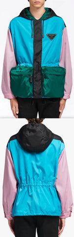 Colour-Block Windbreaker Jacket