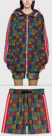 GG Psychedelic Print Jacket and Short Set