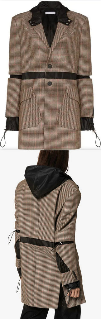 Hybrid Blazer Jacket In Brown | DESIGNER INSPIRED FASHIONS