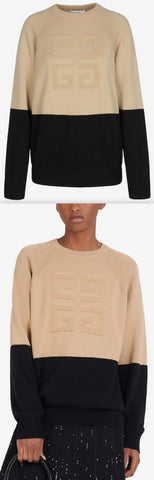 Two-Tone Cashmere Sweater | DESIGNER INSPIRED FASHIONS