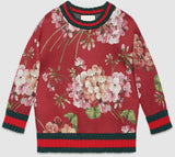 Blooms Printed Ribbed Sweatshirt - DESIGNER INSPIRED FASHIONS