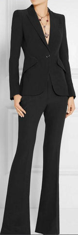 Single-Breasted Blazer and Pant Suit