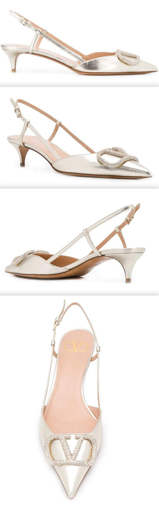 'VLOGO' 50mm Slingback Pumps