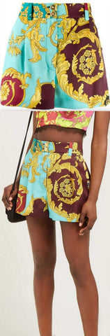 Baroque Print Shorts | DESIGNER INSPIRED FASHIONS
