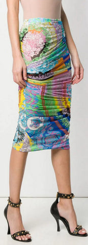 Mixed Print Pencil Skirt | DESIGNER INSPIRED FASHIONS