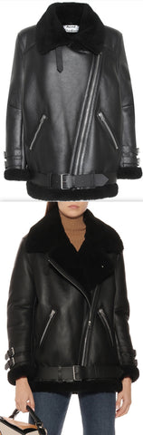 Velocity Shearling Leather Jacket | DESIGNER INSPIRED FASHIONS