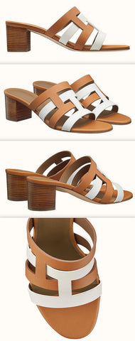 'Amica' Sandals, Blanc/Naturel | DESIGNER INSPIRED FASHIONS