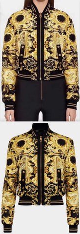 'Baroque' Bomber Jacket