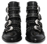 Black Studded Leather Boots - DESIGNER INSPIRED FASHIONS