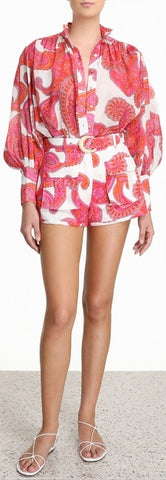 'Peggy' Billow Blouse and Safari Pocket Short Set | DESIGNER INSPIRED FASHIONS
