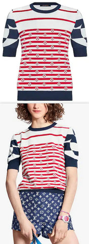 'Escale' Sailor Top