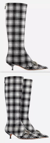Gang Boots in Tartan Fabric | DESIGNER INSPIRED FASHIONS