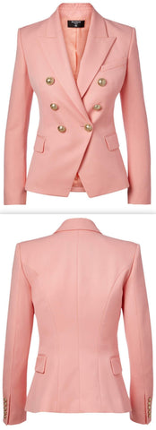 Double Breasted Blazer, Light Pink