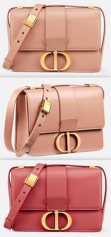30 Montaigne Flap Bag - Pale Pink or Sienna Red | DESIGNER INSPIRED FASHIONS