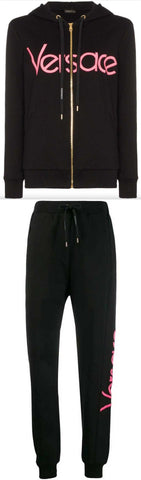 Logo Embroidered Zip-up Hoodie and Track-Pant Set | DESIGNER INSPIRED FASHIONS